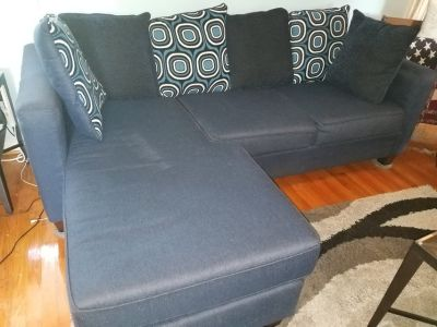 Couch with chase and oversize pillows