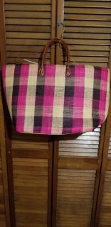 Big Bag with tie string closure great overnight bag
