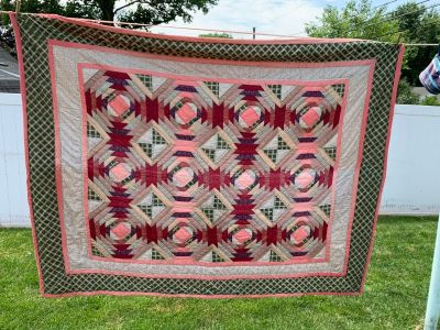 Antique peach quilt