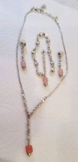 Brighton Rigoletto Pink Necklace, Bracelet and Earring Set