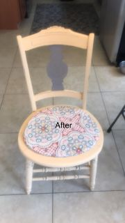 Refinished antique chair