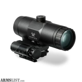 For Sale: VORTEX VMX-3T MAGNIFIER WITH FLIP MOUNT - BLACK