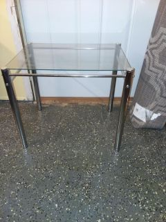 Sturdy glass end table
