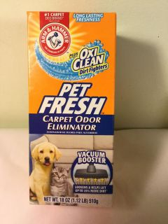 Arm and Hammer pet fresh carpet cleaner with Oxi