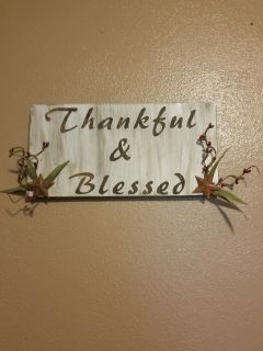 Hand crafted wooden sign
