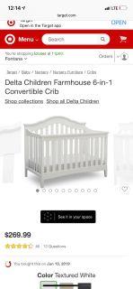 Delta farmhouse crib