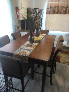 Hub table with 6 chairs