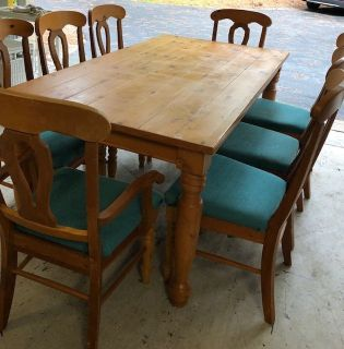 Dining Room Table with Sideboard, Hutch and  Chairs