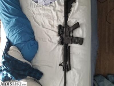 For Sale/Trade: Ruger ar 556/223 with sight Mark reflex and magnifier: trade for bass fishing rod & reel combos!!!