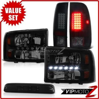 Buy 1999-2004 F350 XLT 3RD Brake Lamp Parking Lights Headlamps LED DRL Replacement motorcycle in Walnut, California, United States, for US $371.43