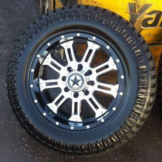 """Sell 20"""" Black Mirror Face Ambush Wheels 35"""" Tires Ford Truck 20x9 8x170 -10mm F350 motorcycle in Katy, Texas, United States"""