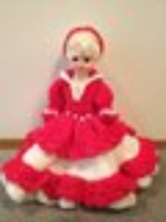 Doll with and stitched dress