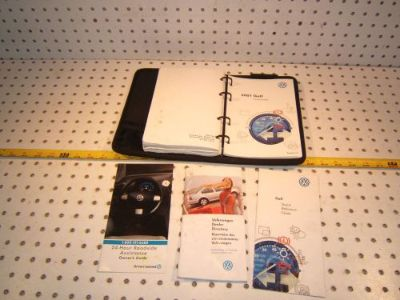 Buy VW 2001 Golf Owner manual's Genuine OEM 1 Booklet with BLACK outer VW OEM 1 Case motorcycle in Rocklin, California, United States, for US $75.00