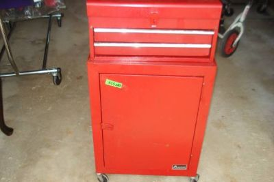 2 piece upright tool box with wheels