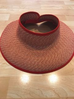 San Diego Wide Brimmed Straw Sun Foldable Hat Excellent Cond. Smoke Free