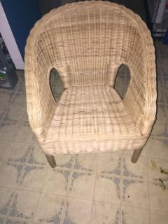 Wicker chair for kids. In excellent condition.