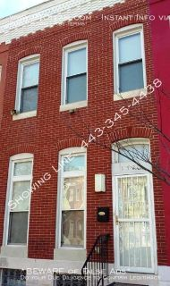 *Coming Soon!* ~1523 N. Bond St~ (21213-Near Johns Hopkins Hosp) Beautiful 4bd/2.5ba w/Fin Bsmt Updated Townhome for Rent-To-Own $1,595.00/mo