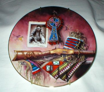 "Vtg Indian Collector Plate - ""We'll Fight No More"" - Lisa Danielle"