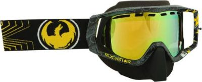 Purchase Dragon Vendetta Rockstar Goggle Dual Gold Lens Snow,Snowmobile,Ski,Snowboard motorcycle in Longview, Washington, United States, for US $69.95