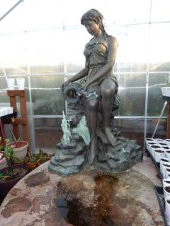 Life Size Bronze Water Fountain Statue