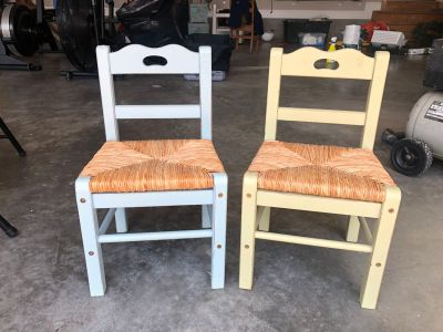 2 toddler/kids wooden chairs
