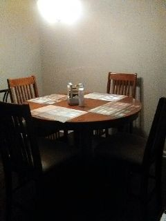 Extended Dinning Table (Round) with 4 high chairs (Negotiable)
