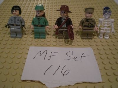5 Lego Indiana Jones Minifigs Group 116