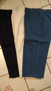 3 pair size 16 pull on capris