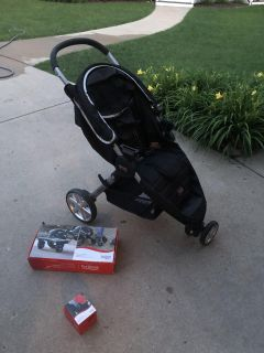 Britax B-agile stroller with brand new accessories