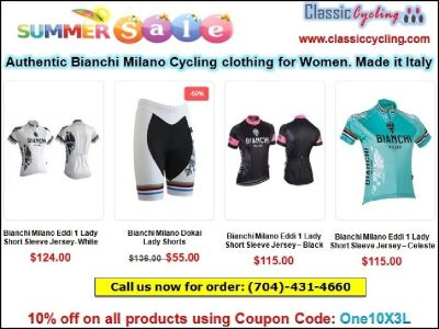 50% Discount on Women's Cycling Clothing | Free Shipping | Classic Cycling