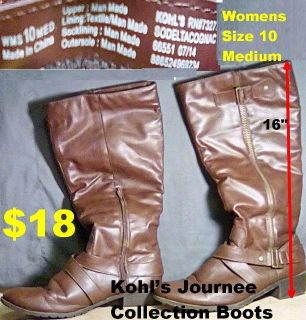 Kohl s Journee Collection Brown Boots women s size medium 10. Little wear nice gently used condition