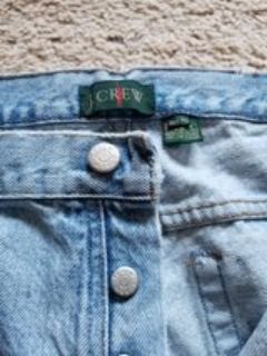 J. Crew 36x34 Button Fly Jeans