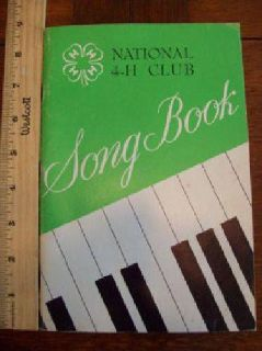 $10 1954 National 4H Club Song Book / piano music (Caldwell)