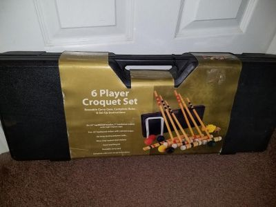 New / Baden Champions Deluxe 6 Player Complete Croquet Set