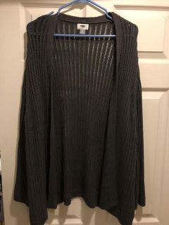 NWT XXL Oldnavy Grey Cardigan Sweater with Bell Sleeves $10