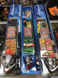 shakespeare rod and reel fishing kit new