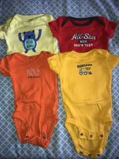 Carter brand mommy/daddy onsies
