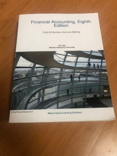 Financial Accounting Tools for Business Decision Making Accounting Textbook