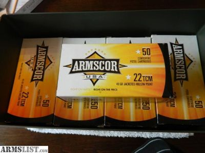 For Sale: ARMSCOR .22TCM AMMO