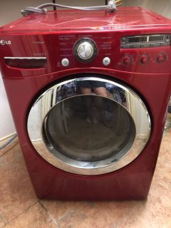 LG electric dryer. Works great. True Steam.