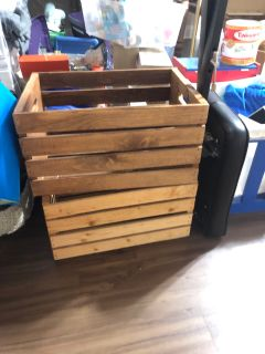 Large Wood Stirage Crates PRICE EACH
