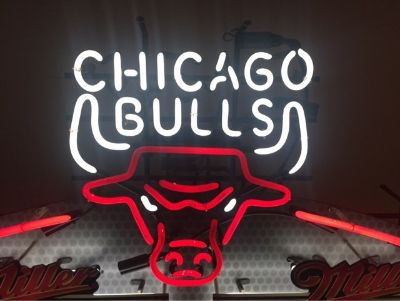 vintage Chicago Bulls Neon Sign