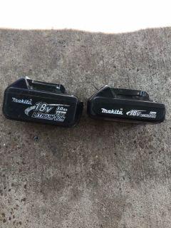 2 makita batteries