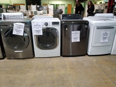 washer dryer for sale Lg and frigidaire scratch dent