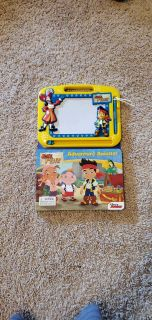 BRAND NEW!! Jake and the Neverland Pirates Book and Etch-A-Sketch