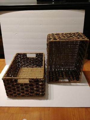Excellent condition set of 2 wicker baskets