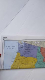 Wall poster USA Map New never opened