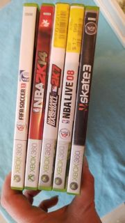 5 XBOX 360 games sold all togethet