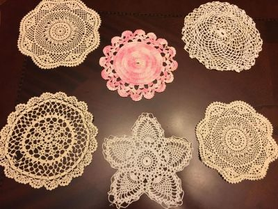 Crocheted Cotton Lace Dollies