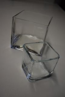 Square Glass bowls (small and large)